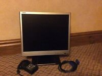 LCD Flat Screen Monitor.