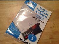 Job Lot of 11 Super Strong Post Safe Polythene Envelopes 325mm x 430mm (pack of 5)