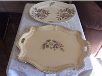 2 olde worlde serving items ideal for the garden