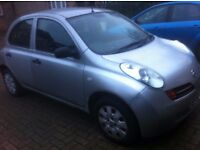 Nssan Micra Automatic. MOT expire May 2017. Millage 58248