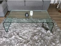 Glass coffee table - immaculate - bought from M&S