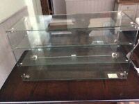 Glass display cabinet suitable for tearoom and cake display