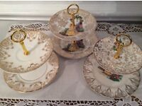 3 Two Tier Mini Cake Stands