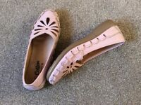 Cotton Traders Pink Loafers