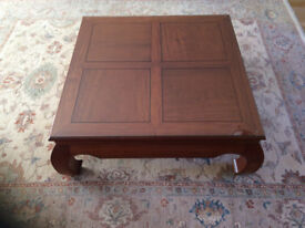 Burmese Rosewood floating Panel Coffee table