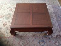Burmese Rosewood floating Panel Coffee table
