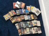 Assorted bundle of cassette tapes
