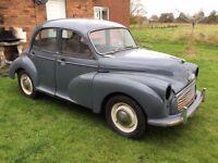 Morris Minor 4 door 1958 for recommissioning