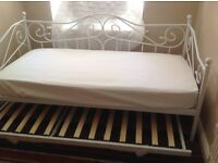 Now sold ___Cream Victorian style 3ft guest bed