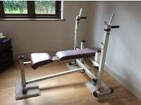 Weight bench , Gold's Gym , sturdy 5cm tubes , used condition but robust type