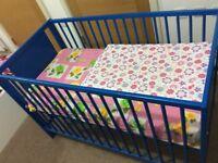 Baby COT for sale - Blue colour
