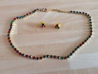 A Costume 4 Coloured Set of Necklace and Earrings from Britains' Largest Family Jewellers