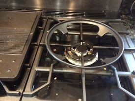 Wok cradle for range master cooker