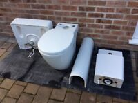 Toilet, sink, tap and waste