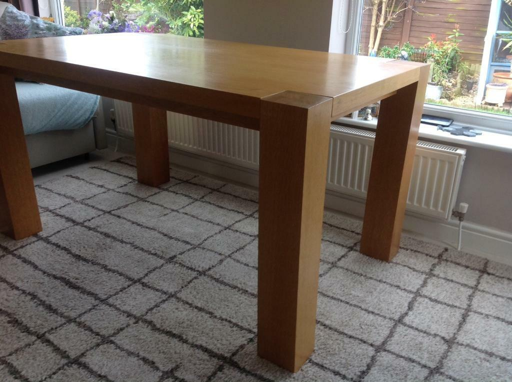 Stupendous Solid Oak Dining Room Table In Wirral Merseyside Gumtree Interior Design Ideas Gresisoteloinfo