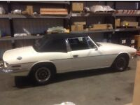 Triumph stag mark 2 auto white with matching factory hardtop