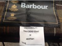 Barbour waxed dog jacket