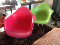 TWO CHARLES EAMES STYLE DAR CHAIRS