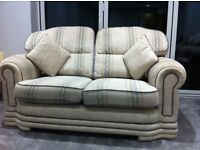 Cream 2 seater sofa & 2 single chairs for sale - £40ono