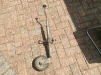 Trailer jockey wheel and winch