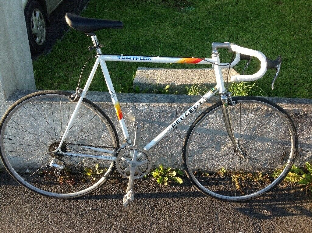 peugeot bike 1980s seat racing retro shimano classic tube bicycles 62cm bikes