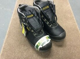 Brand New Black Safety Boots by Panoply, size 9