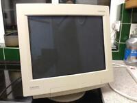 "MITSUBISHI 16"" CRT COMPUTER SCREEN - NOT WORKING"