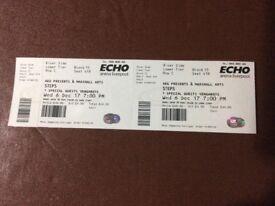 Steps Concert Tickets X 2 - Echo Arena Liverpool 6 December 2017