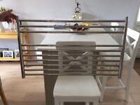 Heated Towel Rail for use with central heating. Also has electric element.