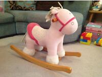 2nd hand Mama's & Papa's Rocking Horse, pink, in good condition from a smoke free home.