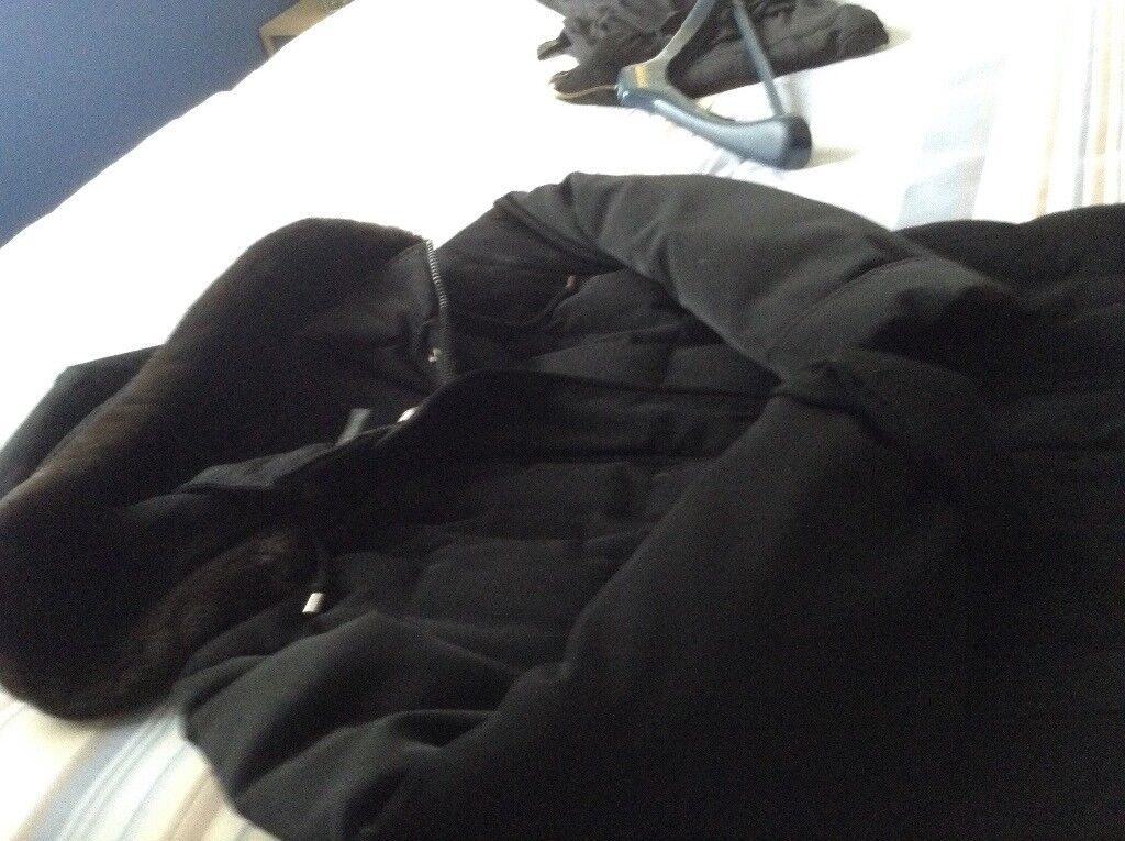 Ladies black feather and down coat