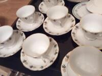 Ten cups saucers and side plates