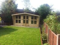 12x8 t&g tanalized summer house with canopy