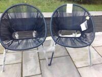 Garden chairs ( John Lewis salsa chairs set of 2 brand new)