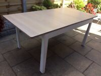 Solid Oak White Washed Extending Dining Table.