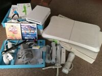 Nintendo wii and multiple extras