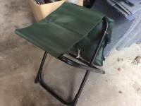 Fold up fishing / garden seat / stool. Brand new & unused. Large Pocket on back
