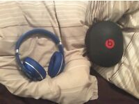 Genuine blue WIRELESS studio dre beats over ear headphones, excellent sound, quick sale available