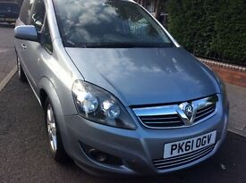 Vauxhall zafira 2011, low mileage
