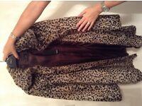 Leopard fur coat size 12