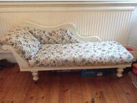 Gorgeous large floral Chaise Longue .