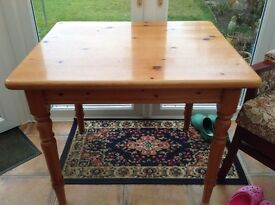 Small purpose made pine table