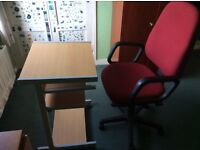 Free computer table and chair