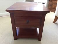 Matching Multiyork Side Tables With Drawer