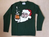 Brand New MENS GREEN CHRISTMAS JUMPER - size M
