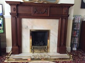 Fire stand, fender & marble hearth