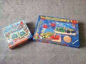 Bob the Builder Jigsaw/ Octonauts Memory Game- Brand New