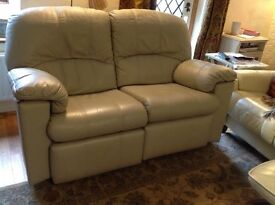 G Plan leather 2seater electric reclining sofa