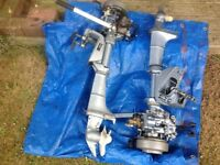 2 X Evenrude outboard engines for spares/parts