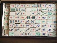 Mah jong Chinese domino game